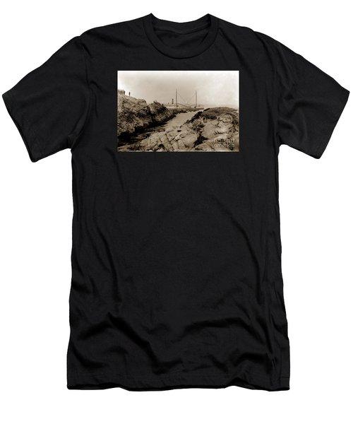 Steam Schooner S S J. B. Stetson, Ran Aground At Cypress Point, Sep. 1934 Men's T-Shirt (Athletic Fit)