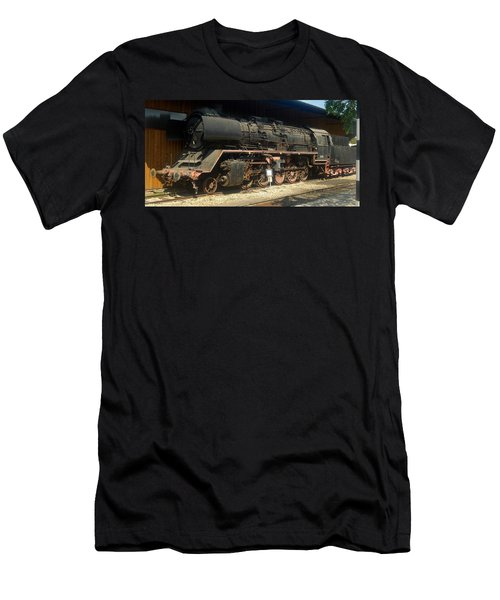 Steam Train  Men's T-Shirt (Athletic Fit)