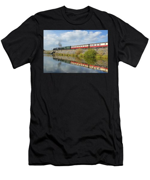 Steam Train Reflections Men's T-Shirt (Athletic Fit)
