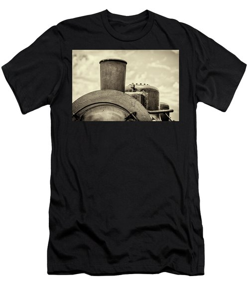 Men's T-Shirt (Athletic Fit) featuring the photograph Steam Train Series No 2 by Clare Bambers