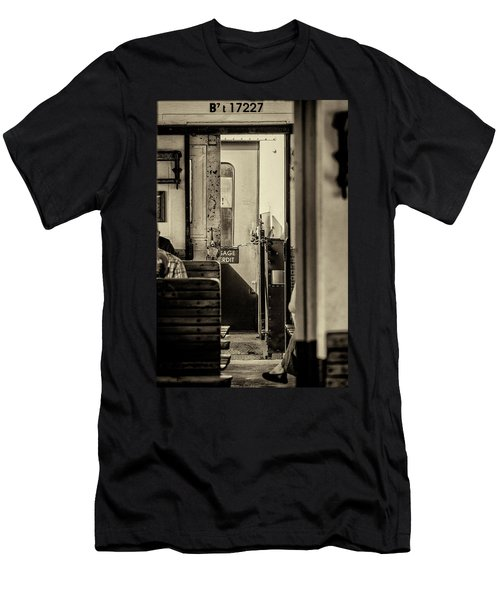 Men's T-Shirt (Athletic Fit) featuring the photograph Steam Train Series No 33 by Clare Bambers