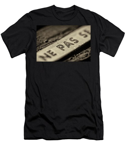 Men's T-Shirt (Athletic Fit) featuring the photograph Steam Train Series No 35 by Clare Bambers