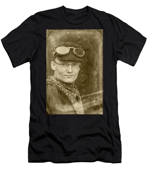 Men's T-Shirt (Athletic Fit) featuring the photograph Steam Train Series No 39 by Clare Bambers