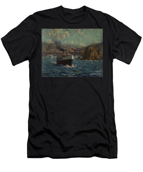 Steamer Leaving Avalon, Catalina Men's T-Shirt (Athletic Fit)