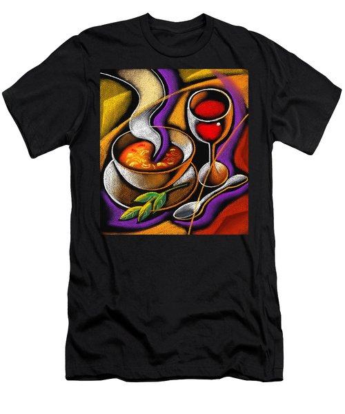 Steaming Supper Men's T-Shirt (Slim Fit) by Leon Zernitsky