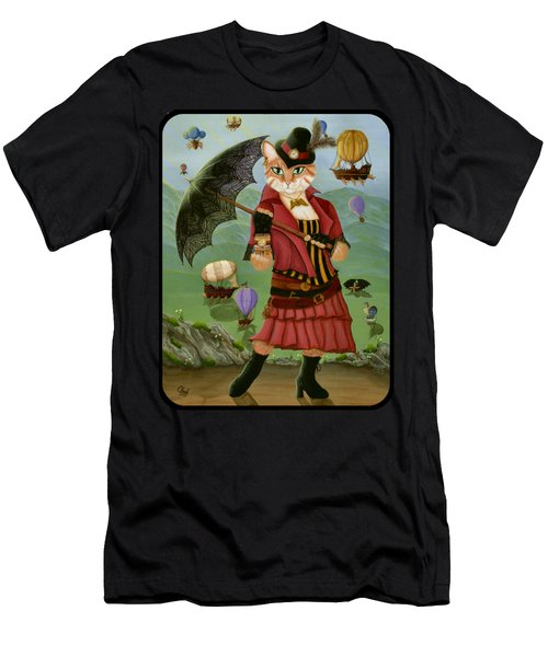 Steampunk Cat Gal - Victorian Cat Men's T-Shirt (Athletic Fit)