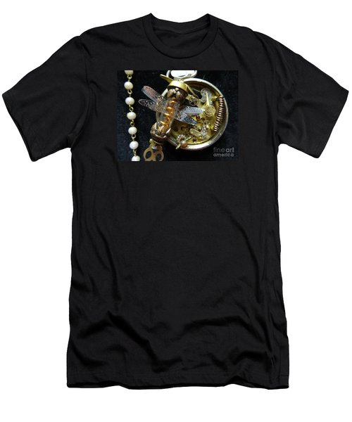 Steampunk Dragonfly Pylon Men's T-Shirt (Athletic Fit)