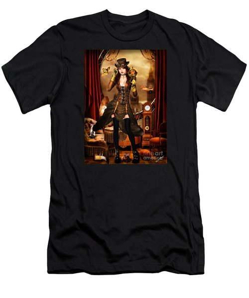 Steampunk Girl Men's T-Shirt (Athletic Fit)