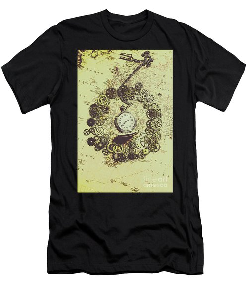 Steampunk Travel Map Men's T-Shirt (Athletic Fit)