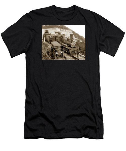 Stean Engine No. 8 Mount Tamalpais Circa 1920 Men's T-Shirt (Athletic Fit)