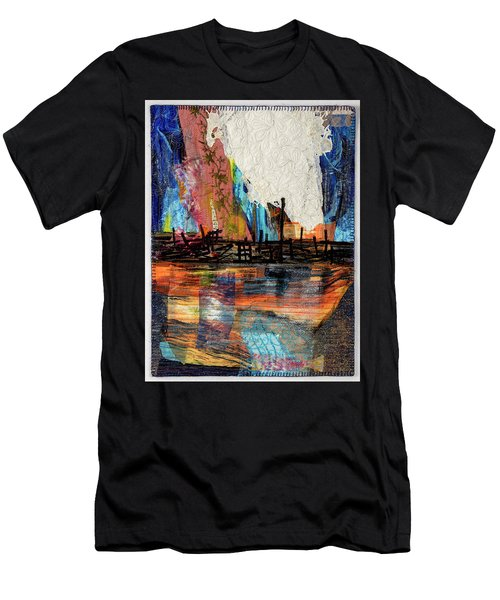 Steel Mills At Night Men's T-Shirt (Athletic Fit)