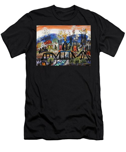 Steeltown U.s.a. Men's T-Shirt (Slim Fit) by Mary Carol Williams