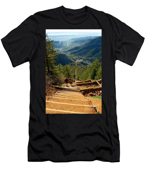 Steep Manitou Incline And Barr Trail Men's T-Shirt (Athletic Fit)