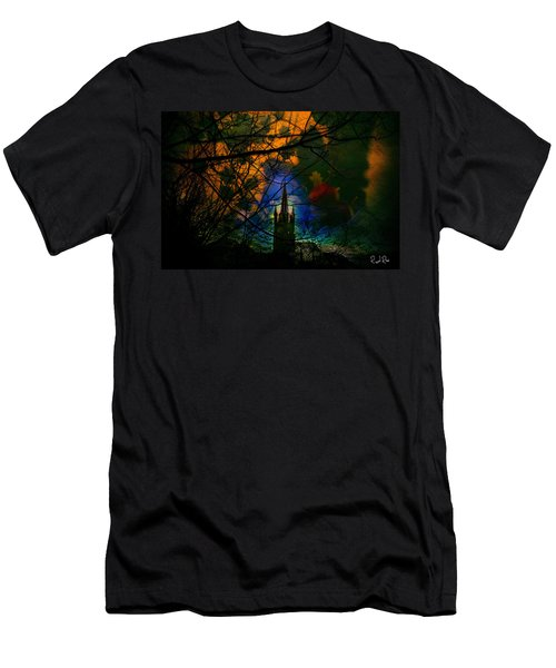 Steeple In The Woods Men's T-Shirt (Athletic Fit)