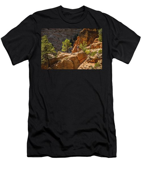 Steeply Up The Canyon Men's T-Shirt (Athletic Fit)