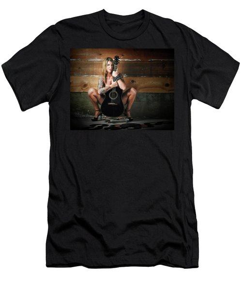 Stephanie W/guitar Men's T-Shirt (Athletic Fit)