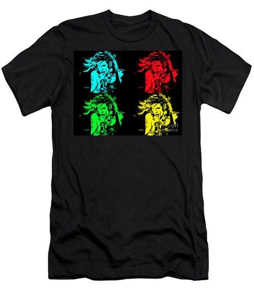 Men's T-Shirt (Slim Fit) featuring the photograph Steven Tyler Pop Art by Traci Cottingham