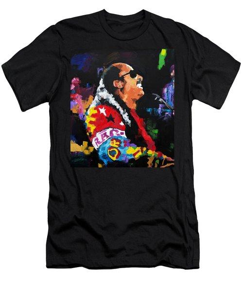 Stevie Wonder Live Men's T-Shirt (Slim Fit) by Richard Day