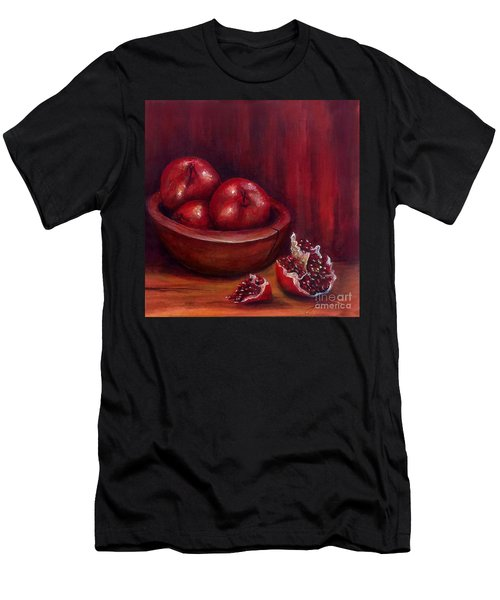Men's T-Shirt (Athletic Fit) featuring the painting Still Life #4-pomegranates by Thomas Lupari