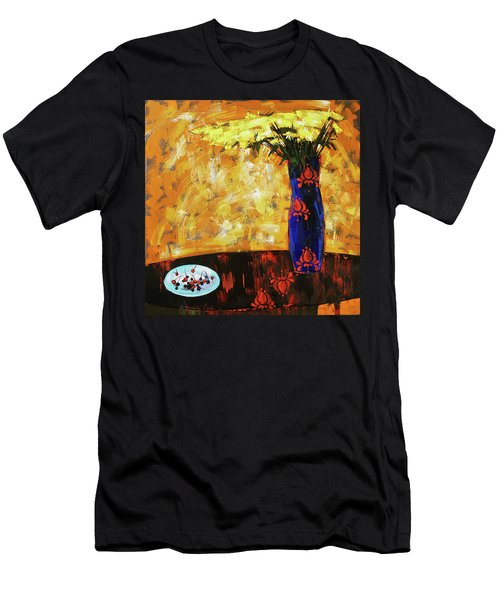 Still Life. Cherries For The Queen Men's T-Shirt (Athletic Fit)