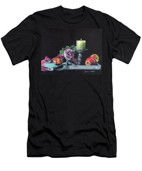 Still Life With Candle Men's T-Shirt (Athletic Fit)