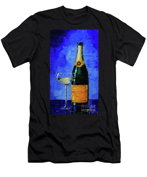 Still Life With Champagne Bottle And Glass Men's T-Shirt (Athletic Fit)