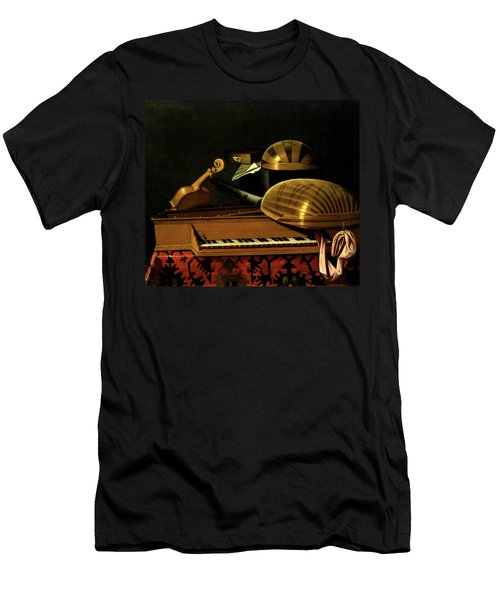 Still Life With Musical Instruments And Books Men's T-Shirt (Athletic Fit)