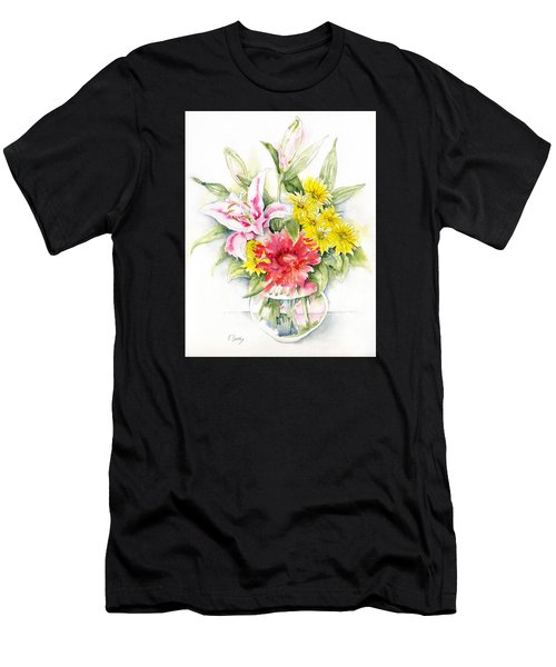 Still Life With Red Zinnia Men's T-Shirt (Athletic Fit)