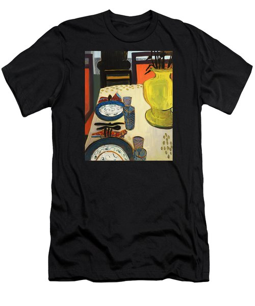 Still Life With Two Plates Men's T-Shirt (Athletic Fit)