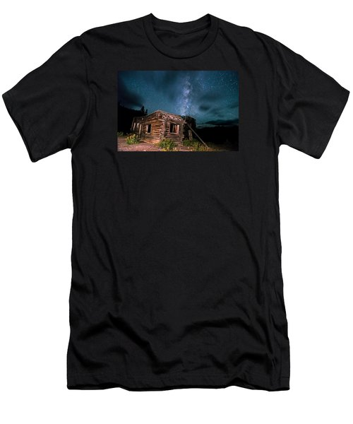Still Night At Old Cabin Men's T-Shirt (Slim Fit) by Michael J Bauer