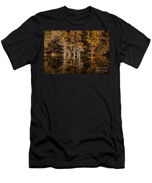 Men's T-Shirt (Slim Fit) featuring the photograph Still Waters On Beaver's Bend by Tamyra Ayles