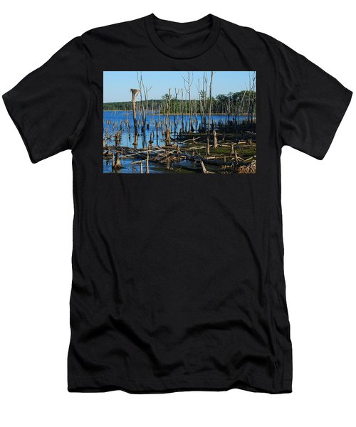 Still Wood - Manasquan Reservoir Men's T-Shirt (Athletic Fit)