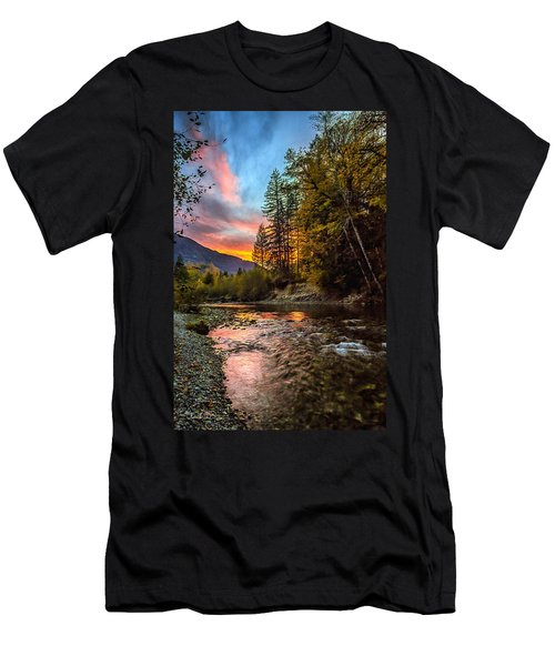 Stillaguamish Sunset Men's T-Shirt (Athletic Fit)