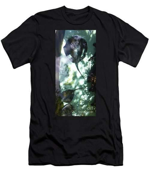 Men's T-Shirt (Athletic Fit) featuring the photograph Stingray Swim V by Francesca Mackenney