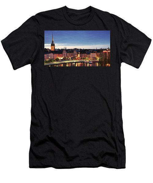 Stockholm By Night Men's T-Shirt (Athletic Fit)