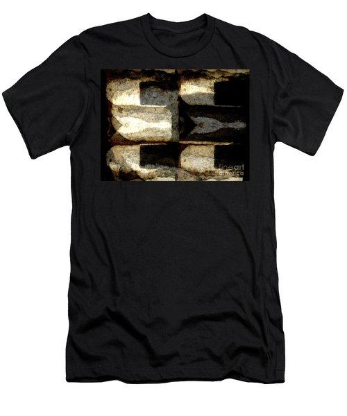 Stone Abstract Men's T-Shirt (Slim Fit) by Barbara Moignard