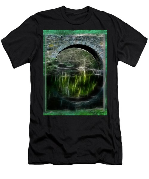 Stone Arch Bridge - Ny Men's T-Shirt (Slim Fit) by EricaMaxine  Price