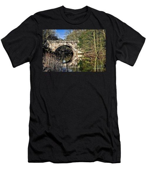 Stone Bridge On River Men's T-Shirt (Athletic Fit)