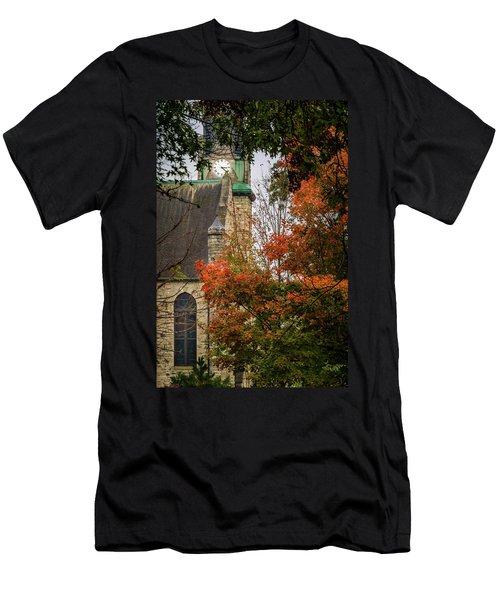 Stone Chapel Fall Men's T-Shirt (Athletic Fit)