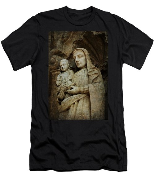Stone Madonna And Child Men's T-Shirt (Athletic Fit)