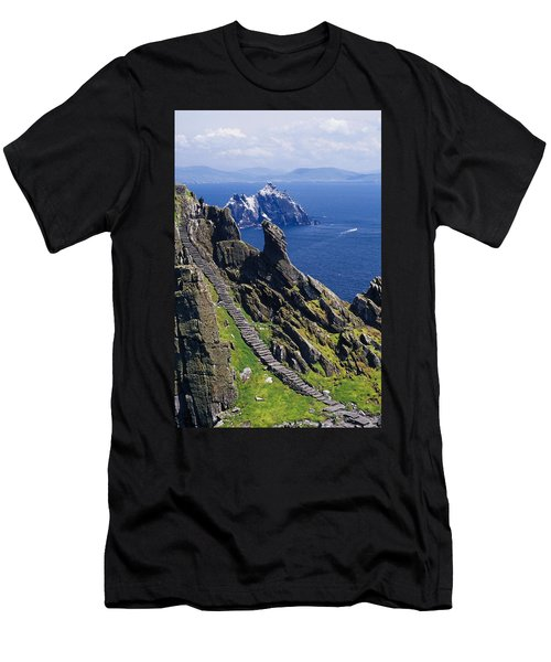 Stone Stairway, Skellig Michael Men's T-Shirt (Athletic Fit)