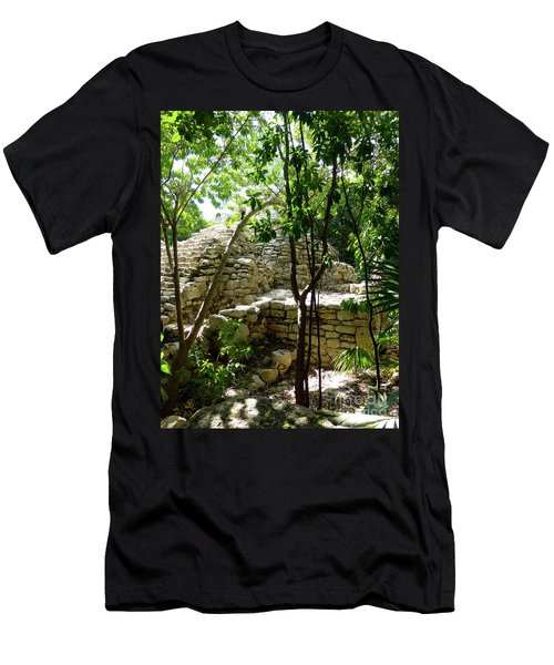Men's T-Shirt (Athletic Fit) featuring the photograph Stone Steps In The Jungle by Francesca Mackenney