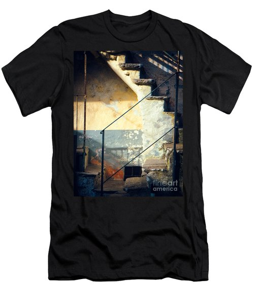 Stone Steps Outside An Old House Men's T-Shirt (Athletic Fit)
