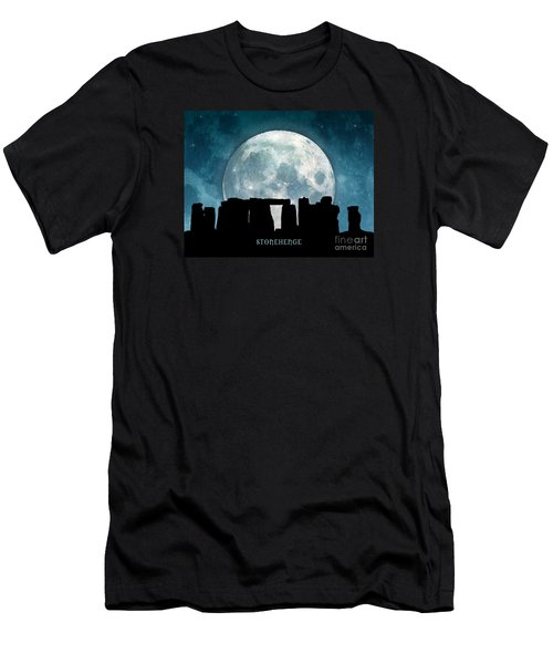 Men's T-Shirt (Slim Fit) featuring the digital art Stonehenge by Phil Perkins