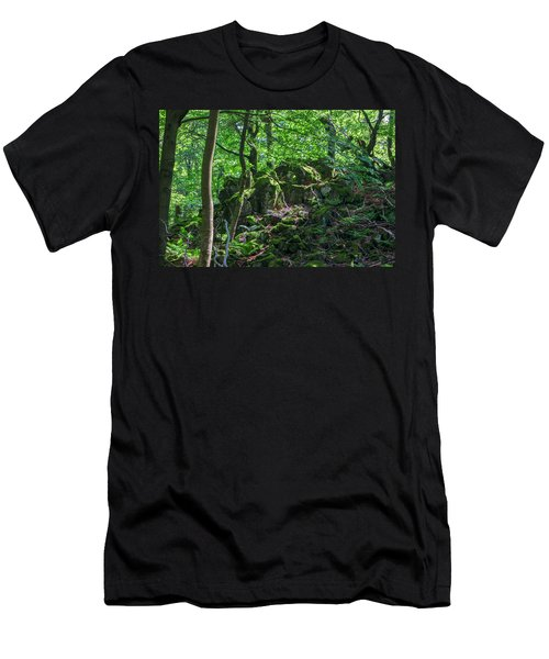 Stones In A Forest In Vogelsberg Men's T-Shirt (Athletic Fit)
