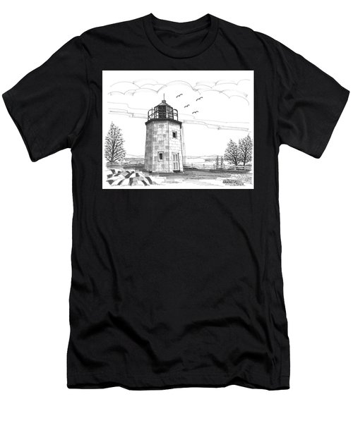 Stony Point Lighthouse Men's T-Shirt (Athletic Fit)