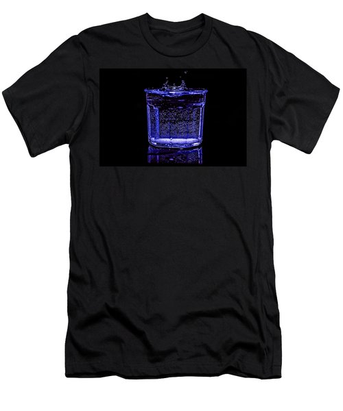 Stop Action Water Drop In Blue Light Men's T-Shirt (Athletic Fit)