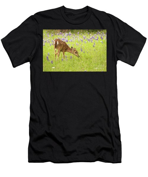 Stop And Smell The Bluebonnets. Men's T-Shirt (Athletic Fit)
