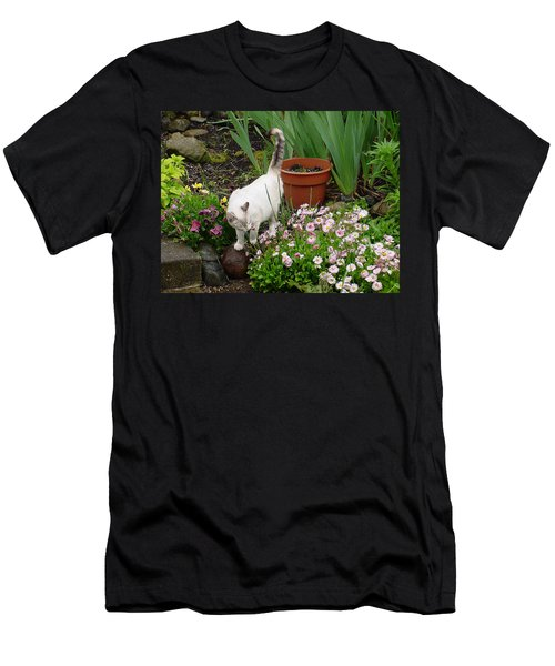 Stop To Smell Flowers Men's T-Shirt (Athletic Fit)