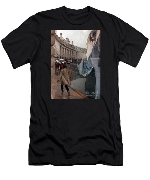Store Window Reflection Men's T-Shirt (Athletic Fit)